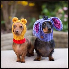 Winnie The Pooh Bear or Eeyore Hat snood for your dog. Small. Disney Inspired.