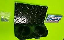 Yamaha Rhino Center Dashl Cup Holder diamond  plate aluminum Black powder coated