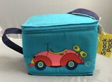 NOS Vintage Insulated Snack Pack Lunch Box Wind Up VW Volkswagon Blue Pink 1987