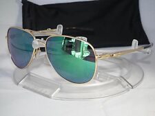 NEW OAKLEY ELMONT M AVIATOR SUNGLASSES OO4119-0358 Satin Gold / Jade Iridium