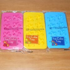 6 FLEXIBLE SILICONE FLOWER ICE CUBE TRAY JELLY MOLD PINK BLUE YELLOW Free US S&H