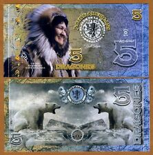 El Club De La Moneda, 5 Dragones, 2016 (2015), Polymer, UNC   Inuit, Polar Bear