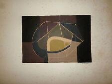 Piaubert Jean Lithographie originale signée Art Abstrait abstraction Cubisme