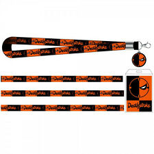 Authentic DC COMICS Deathstroke Charm Lanyard ID Holder NEW