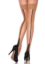 Jonathan Aston Tosca Seamed Hold Ups Black / Black size B / C NEW