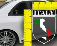 ~~ Italy Italian Flag Shield VINYL Decal Sticker ~~