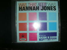 "CD Hannah Jones "" Was That All It Was (Mixes: Razor N Guido /Fontana)"" Nervous"