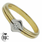 BJC® 9ct yellow gold Diamond 0.10ct Dress size N engagement dress ring R73