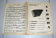 Spartiti ALBUM DEL LISCIO n. 7 Albora 1980 Songbook Ballo Orchestra Fisarmonica
