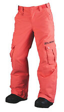 BRAND NEW + TAG BILLABONG 'BEOBBLE' GIRLS SIZE (12) KIDS SKI SNOW PANT CORAL