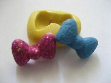 Teeny tiny glitter bow 13mm silicone flexible mold for chocolates fondant & more