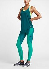 Women's Nike Zoned Sculpt Training Tights 810965 346 SIZE S Turquoise Teal