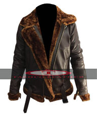 Men's Aviator 100% Real Sheepskin Leather Bomber Flying Jacket