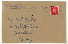 AC60 GB 1950 LATE USE *M.E.F.* BOIC GB OVERPRINT Stanley Gibbons London Cover