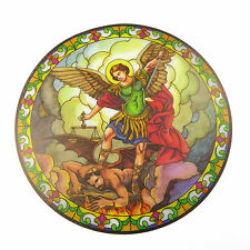 St. Michael suncatcher stained glass window sticker reusable 6 inch sun catcher