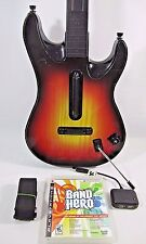 PS3 Rock Band Guitar Hero Controller Fender Sunburst WITH Dongle Tested PS2 PS4