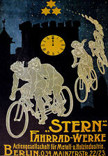 Art Deco - Stern Bicycle German Cycle Bike - A3 Art Poster Print
