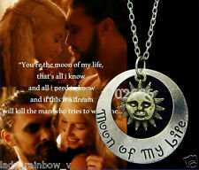 Film Vintage Game of Thrones Khal & Khaleesi Moon of My Life Pendants Necklace