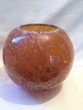 Large Art Glass Bowl Vase Murano Style