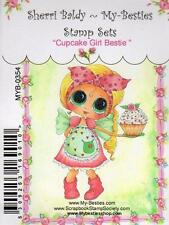 NEW My-Besties Clear cling Rubber Stamp CUPCAKE GIRL BESTIE free usa ship