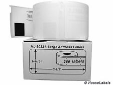 2 Rolls of Large Address Labels in Mini-Cartons fits DYMO® LabelWriters® 30321