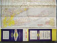 1958 NEW YORK SUNOCO TOUR-MAP INCLUDING LONG ISLAND CITY MAPS BUFFALO SYRACUSE