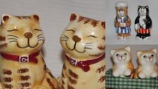 Cat Salt Pepper Shakers Collectable 3 Set Lot