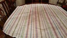 "Target Stripe Umbrella Tablecloth Green Blue Yellow Terra Cotta 66"""
