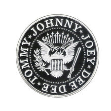 "Nice 4 1/2"" Ramones Presidential Seal Embroidered Patch - Wax Backing, Merrowed"