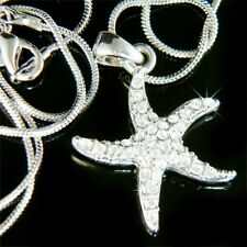 w Swarovski Crystal ~Sea Ocean Star Fish Beach Wedding STARFISH Pendant Necklace