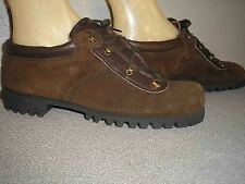 Sz 6 W Vtg 70s New BROWN SUEDE Hiker LEATHER LO HIKING BOOTS SHOES Cover Girl