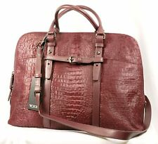 TUMI トゥミ 73219 Calf Hair Leather Nivelle Laptop Sleeve Case Business Bag Women