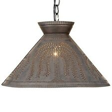 Roosevelt Tin Shade Light w/ Willow | Country Colonial Hanging Pendant Lighting