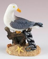 Seagull Figurine Resin Nautical Scene 3.25 Inch High New