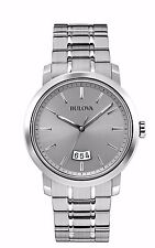 Bulova Men's 96B200 Quartz Grey Dial Stainless Steel Watch
