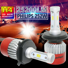 H4 252W 25200LM PHILIPS LED Headlight Kit Hi/Low Beam Bulb White 6500K Power
