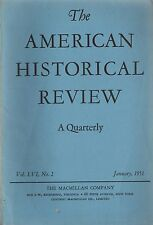 American Historical Review 1951 January-Macmillan Co MA Continental Officers Etc