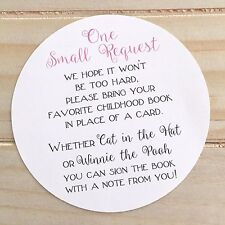 """Set of 10 Baby Shower """"Please Bring a Book Instead of a Card"""" Poem Insert Cards"""