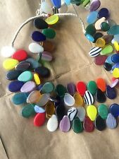 Mali Soninke Tribal Weeding beads. Is flat Mix color Flat beads. Trade Bead