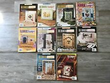 Lot of 10 Rubber Stamper Magazine Lot Scrapbooking - Cards - Holidays - Crafts