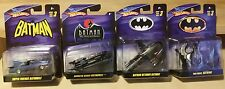 Hotwheels Batman 1:50 Scale Animated & Super Friends Batmobile, Batwing, Batboat