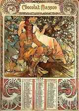 Alphonse Maria Mucha Manhood Calendar A3 Box Canvas