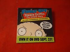 Family Guy Stewie Griffin The Untold Story Promotional Button Pin Back Promo