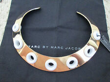 NWT Auth Marc by Marc Jacobs Round & Round Gold Collar Statement Necklace $228