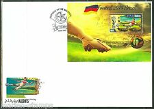 MALDIVES 2014 SPORTS BRAZIL WORLD CUP SOCCER SOUVENIR SHEET FDC