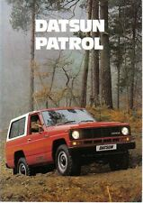 Datsun Nissan Patrol Hardtop Estate 1982-84 Original UK folleto de ventas no. D354