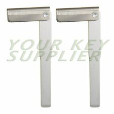 2 Uncut Emergency Key Blade Insert for Jaguar and Land Rover Smart Key Aluminum