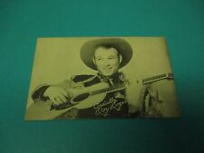 Roy Rogers With Cowboy Hat & Guitar Black & White Vintage Arcade Card  PC24