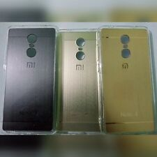 Combo Set Of 3 Redmi Mi Note 4 Metal Pattern  Back Cover Case Gold Rose Silver.