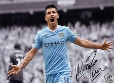 SERGIO KUN AGUERO MAN MANCHESTER CITY AUTOGRAPH SIGNED PP PHOTO POSTER